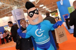 Mr Circuit, who first made his debut at the recent Facilities Show Birmingham
